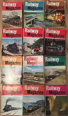 "MASSIVE Job Lot of 137 Issues Vintage ""Railway Magazine"" 1966-1979 ONLY 50p EACH"
