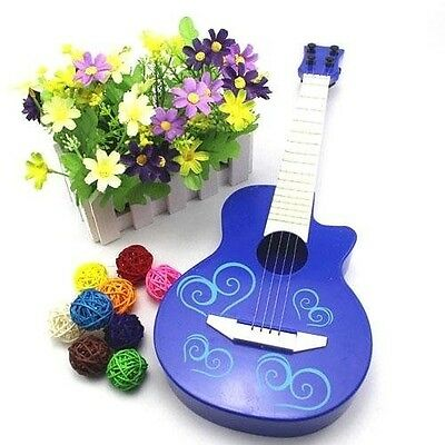 Toy Guitar Kids Strings Toddlers Children Blue Acoustic Classical Musical Instru