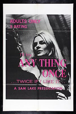 I'LL TRY ANYTHING ONCE * CineMasterpieces MOVIE POSTER 1969 ADULT X RATED PORN