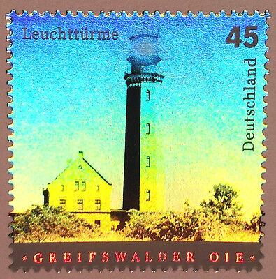 Rare Hologram/Holographic/3D Stamp Germany 2004 Lighthouse Beacon