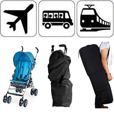 Gate Check Pram Travel Bag Stroller Pushchair Portable Waterproof Buggy Cover