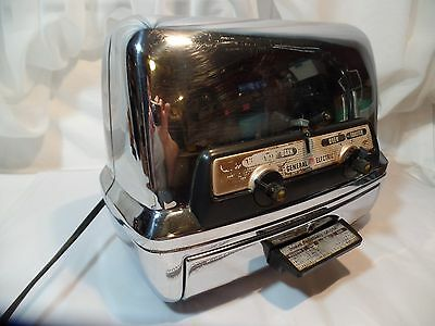 Vintage retro1950's General Electric GE TOASTER OVEN Chrome mod. 45T83 ~ NICE!