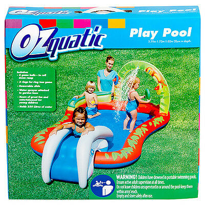 NEW Ozquatic Play Pool Age 3+ Interactive Multi Fun For Toddlers