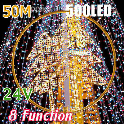 50M 500 LED Fairy Lights Strand 4 Colors 8 Functions for Christmas Decoration