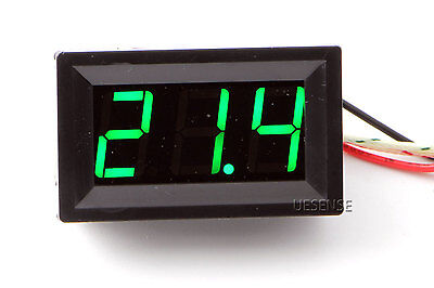 Green LED -30-800°C Temperature Thermocouple Thermometer Temp Panel Meter