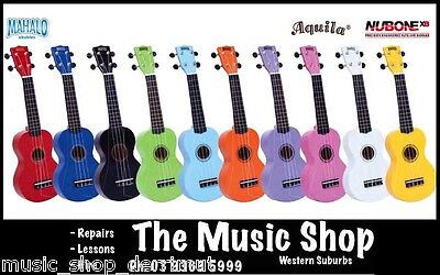 Mahalo MR1 Soprano Ukulele Beginner Starter Coloured with Bag Carry Case