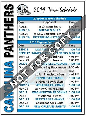 2017 Carolina Panthers Football Schedule Magnet - NFL (High Quality Magnet)