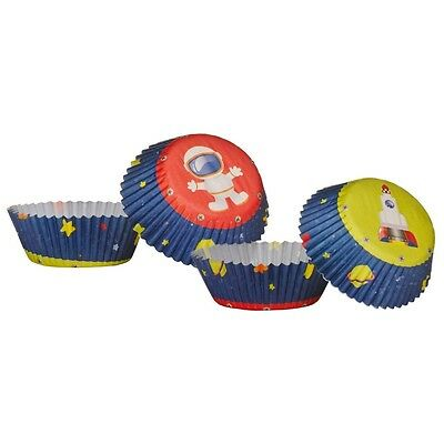 Medium Size 60pcs Cupcake Cases Paper Greaseproof With Rocket Design. Free Deliv