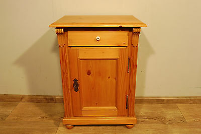 Antique pine Nightstand Bedside Table in Wood