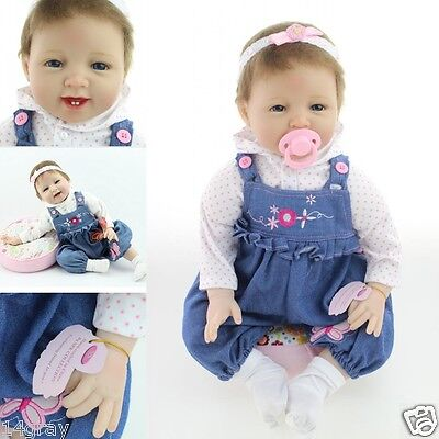 "22"" Silicone Reborn Baby Doll Lifelike Toys For Children Gift"