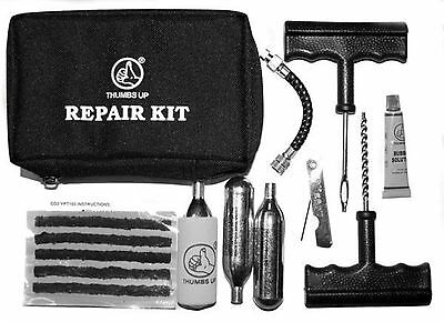 CAR & VAN TUBELESS TYRE PUNCTURE REPAIR & INFLATION KIT WITH 3 x CO2 CANISTERS