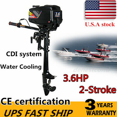 Outboard Motor Fishing Boat Engine Water Cooling System 6HP 2-Stroke Drive unit