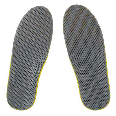 Comfortable Orthotic Shoes Insoles Inserts High Arch Support Pad (S) yellow+G WD