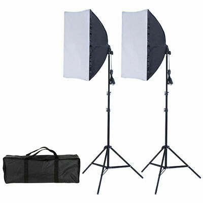 2X85W Photography Lighting Kit Continuous Bulb Studio Video Light Stand Softbox