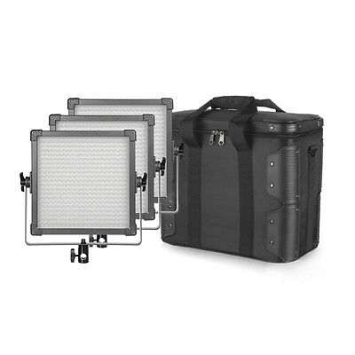 F&V K4000S Bi-Color LED Studio Light 3er Set + Tasche Videoleuchte Licht