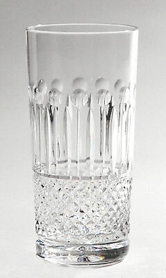 SET 6 HAND CUT GLASS ELITE HIBALL TUMBLERS 24% Lead Crystal Drinks Glasses NEW