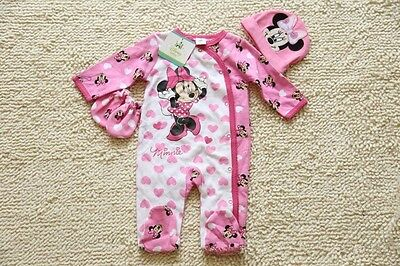 Toddler Baby Romper Jumpsuit Outfits Clothes Long sleeves Beanie Glove Set
