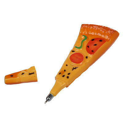 Hard Plastic Black Funny Pizza Ball Pen Ball-PoinPen with MagneS*
