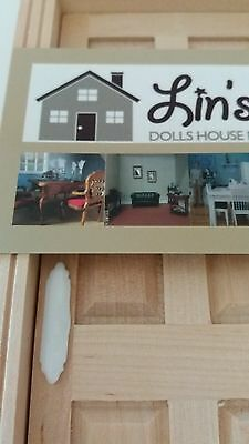 Dolls House Miniatures 1/12 Scale DIY686 White Door Plate (pk2)