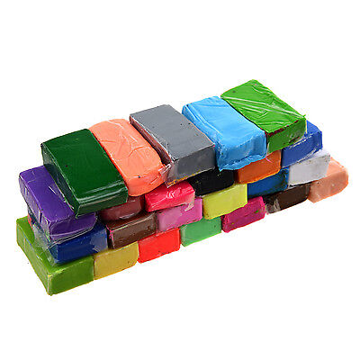 Mixed Colour 24 SofSculpey Oven Bake Polymer Clay Modelling Moulding Block S*
