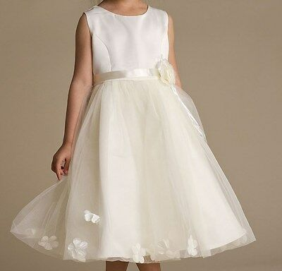 Girls Ivory Dress, Baby Girl Dresses, Christening Bridesmaid Flower Girl Dresses