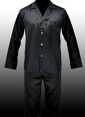NEW HUGO BOSS Black Silk Satin Pajama PJS Sleepwear Set Pyamas S M L XL