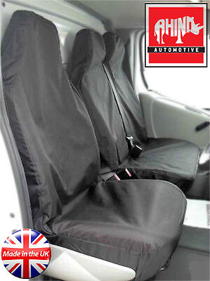 Vauxhall Vivaro 2015 Van Seat Covers Heavy Duty Waterproof Black 2+1