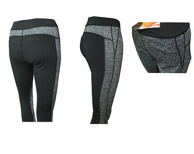 Ladies Sports Cropped Pants 3/4 Leggings Running Yoga Fitness Gym Bottoms
