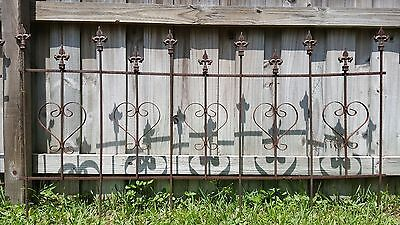 CLEARANCE SALE! 10 1/2'+ VINTAGE GOTHIC Wrought Iron Fencing Hearts / VICTORIAN!