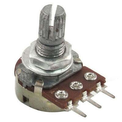 1MOhm Single Linear Taper 3 Pins Rotary Potentiometers Pots 5 Pcs S*