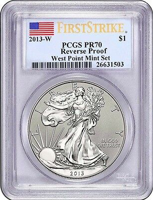 2013-W PCGS PR70 Reverse Proof SILVER EAGLE First Strike