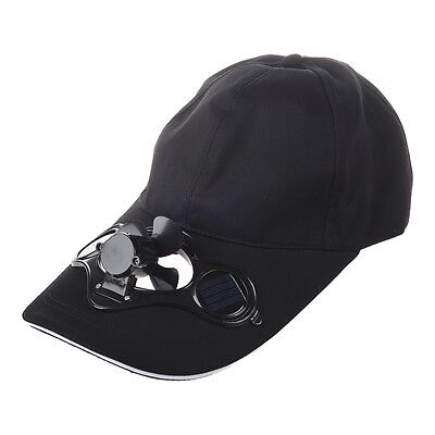 Solar Sun Power Hat Cap Cooling Cool Fan - Black SP