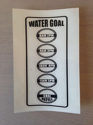 Motivational Water Bottle Decal Hydration Tracker Vinyl Sticker Fitness Quotes