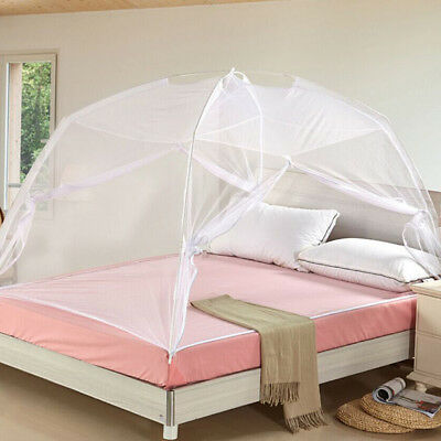White Freestand Bed Canopy Insect Mosquito Net Travel For Double Bed 1.5*2m