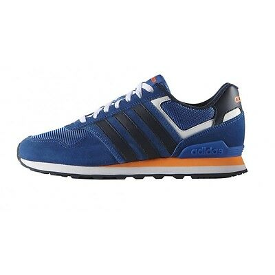 best service 4f74c cd2c8 Adidas Runneo 10k Sneakers F99294 Modello ZX Basse Uomo Blu Royal Nuova  Collezi