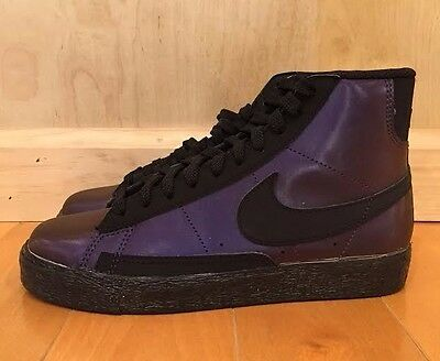 huge selection of 73f08 9e9b4 ... get nike blazer mid premium ink purple eggplant black gs kids sz 4 7 y  354758 inexpensive nike blazer mid premium vintage black white sneakernews  ...