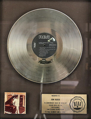 Ronnie Milsap 'It Was Almost Like A Song' Platinum Record LP RIAA Award 1977