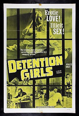 DETENTION GIRLS * CineMasterpieces MOVIE POSTER 1969 ADULT X RATED PORN SEX JAIL