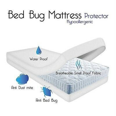 Remedy Bed Bug Dust Mite Cotton Mattress Protector- Queen. Brand New
