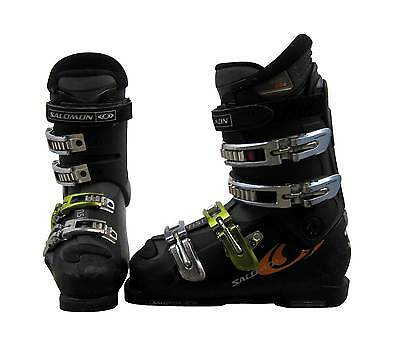 Salomon X Wave 6.0 Ski Boots Mondo 22 Women's 5 Black/Silver/Gold