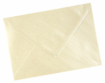 A6 C6 Champagne Ivory Pearlescent Shimmer Envelopes - All Quantities