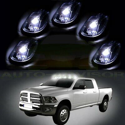 5x Clear Cab Marker Roof Running Light W Free Bulb For 2017 2016 Dodge