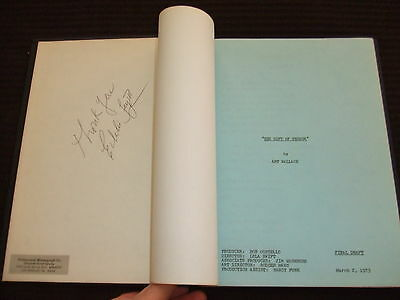 RARE 1973 Gift Of Terror Movie Script Cast Will Geer ABC SIGNED HC Bound FOY III