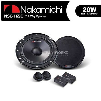 """New Nakamichi NSC 165C COMPONENT SPEAKER 16cm 6"""" 2 Way Car Component System"""