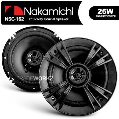 New Pair Nakamichi NSC162 25 W 16cm (6'') Two 2-Way Car Coaxial Speaker System