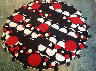 Portable Round Thick Cotton Baby Play Mat Toy Sack Lego Mat Baby Shower Gift