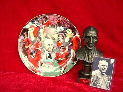 Liverpool Gift Collection Bill Shankly Bust & Liverpool Fc Legends Plate