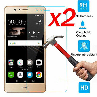 2x 9H+ Tempered Glass Cover Screen Protector For Huawei P9 / P9 Lite / P9 Plus