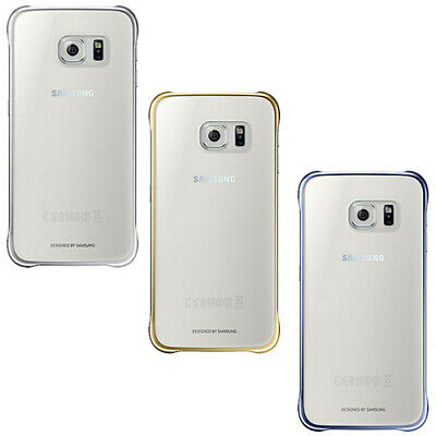 Original Samsung Galaxy S6 Clear Cover View Case Clip-On Schutz Hülle EF-QG920