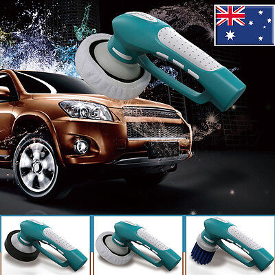 NEW Electric Hand Held Cordless Car Polisher Buffer Sander Polishing Sponges AU